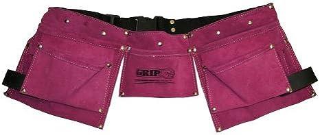 Grip Women's Pink Leather Tool Belt