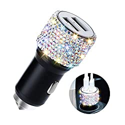 Bling Rhinestones Crystal Car USB Car Charger