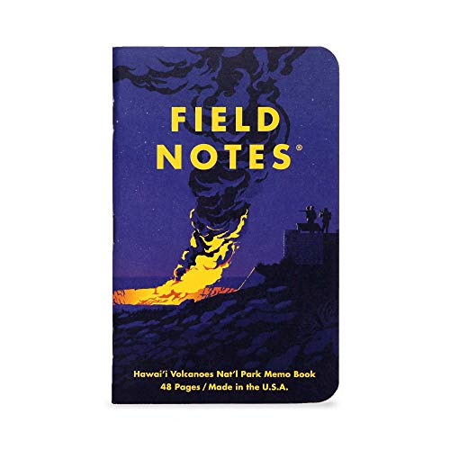 Field Notes: National Parks Series (Series F - Glacier, Hawai'I Volcanoes, Everglades) - Graph Paper Memo Book 3-Pack - 3.5 x 5.5 Inch