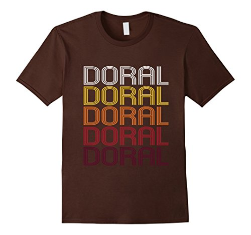 Mens Doral, FL | Vintage Style Florida T-shirt Large Brown (Mens Doral)