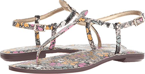 Snake Gigi Women's Fashion Sandals Bright Floral Retro Sam Multi Print Edelman A4qPvAS6