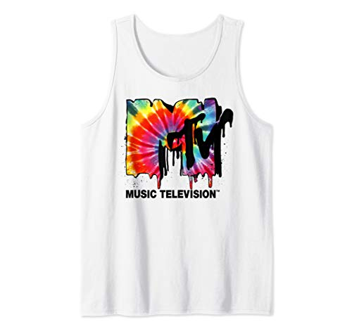 MTV Logo Tie Dye Drip Tank Top ()