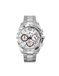 Certus Men's White Dial Tachymeter Date Watch
