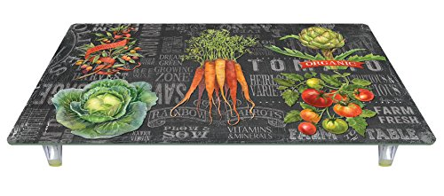 CounterArt 'Chalkboard Veggies' Design Tempered Glass Instant Counter