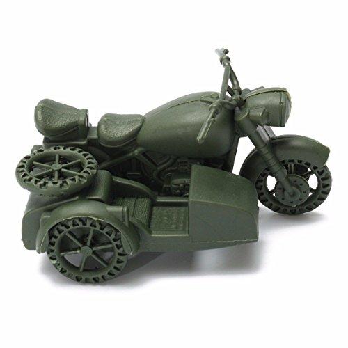 German Military Motorcycle Side Car Plastic Toy Model Soldier Army Men - German Motorcycles Army