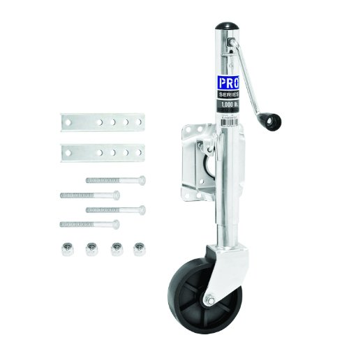 Steel Universal Swing Shaft - Pro Series 1000 Lbs. Capacity Swivel Trailer Tongue Jack - EJ10000101