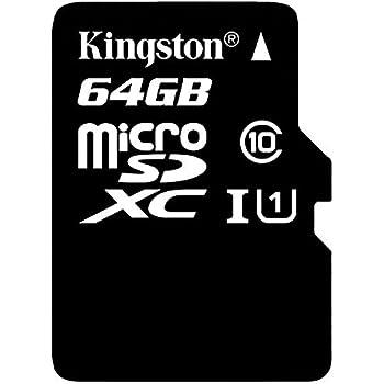 Kingston Digital 64GB microSDXC Class 10 UHS-I 45MB/s Read Card with SD Adapter (SDC10G2/64GB)