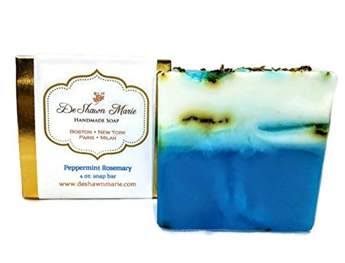 Peppermint Glycerine Soap - Peppermint Rosemary Soap, 4oz Handmade Soap Bar, Vegan Glycerin Soap Bar