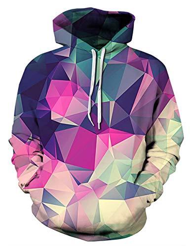 À Hooded Hoodie Poches Capuche geometry Sweatshirts Manches Unisexe Avec A 3d Des Sweat Cool Longues Alisister 4wqxOzpn4