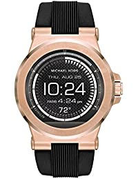 Access, Mens Smartwatch, Dylan Rose Gold-Tone Stainless Steel with Black Silicone,