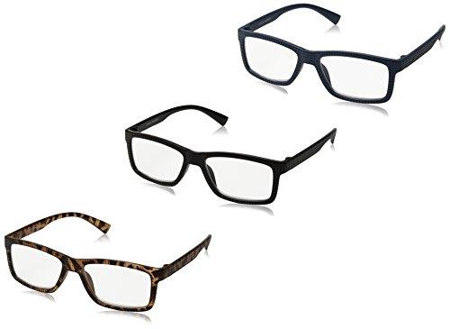 Steve Madden Unisex-Adult Sm63338b SM63338B Rectangular Reading Glasses, BLU/TORT/BLK, 2
