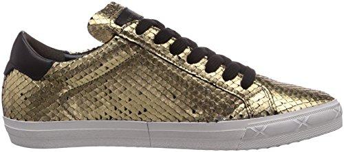 Kennel und Schmenger Schuhmanufaktur Bridge - zapatilla deportiva de piel mujer dorado - Gold (gold So. weiss)