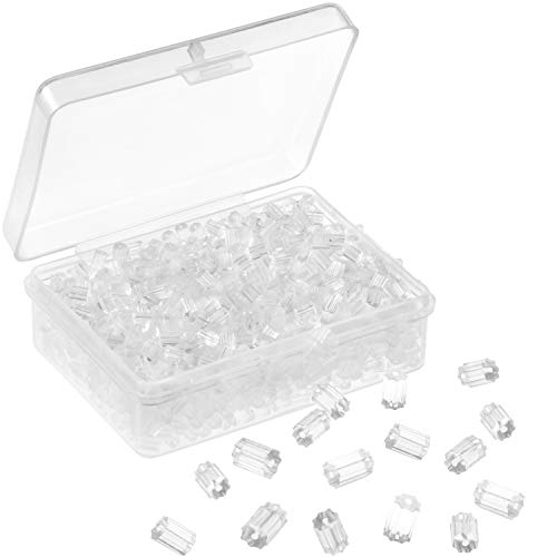 Whaline 1000 Pieces Earring Safety Backs Clear Rubber Earring Stoppers Replacement for Beading & Jewellery-Making (1000 Pieces)