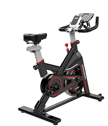 Lcyy-Bike Indoor Cycling Bicycle Trainers Infinite Resistance 6 Kg Flywheel with Monitor Smart APP & Multifunctional Tablet Holder Kettle Adjustable Handlebars & Seat Height Household Black