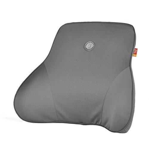 GiGi Charcoal Memory Foam Car Lumbar Pillow ,Lumbar Seat Cushion,Car Backrest, Use In Travel Home Office Car ,Protect Waist - Gray