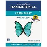 "Hammermill - Laser Print Paper, 24lb, 98 Bright, 8.5 x 11"" - Reams 10"