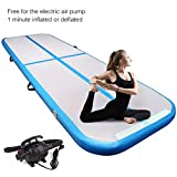 Yoleo 9.84ft Air Track Tumbling Mat, Inflatable Gymnastics Airtrack Floor Mat with Electric Air Pump for Home Exercise, Beach, Martial Arts etc