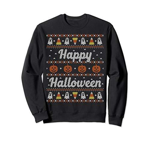 Funny Ugly Sweater Happy Halloween Sweatshirt Tacky Gift]()