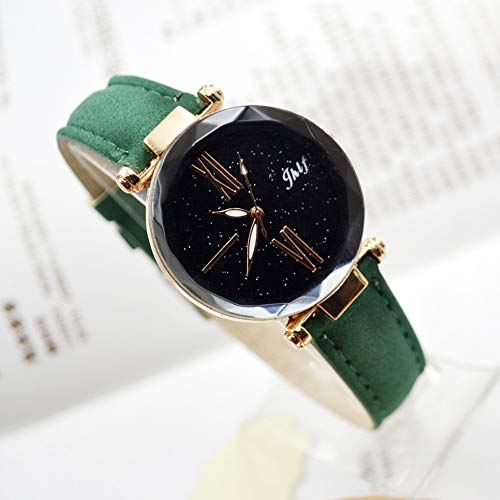 Pocciol 2019 Luxury Watch Womens Casual Watch with Leather Strap Band Analog Quartz Starry Sky Wristwatch for Ladies (Green) by Pocciol Cheap-Nice Watch (Image #1)