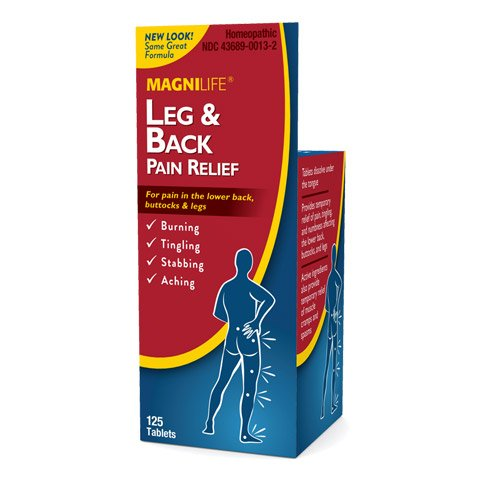 MagniLife Leg and Back Pain Relief Tablets, Burning, Tingling, Stabbing Discomfort Relief & Treatments (125 Tablets)