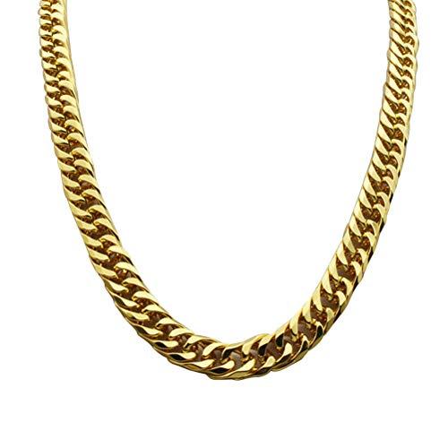 YeahiBaby Collar de Cadena de Oro de imitación 90s Estilo Punk Collar Bisutería Cadena de eslabones cubanos Cadena de Hip...