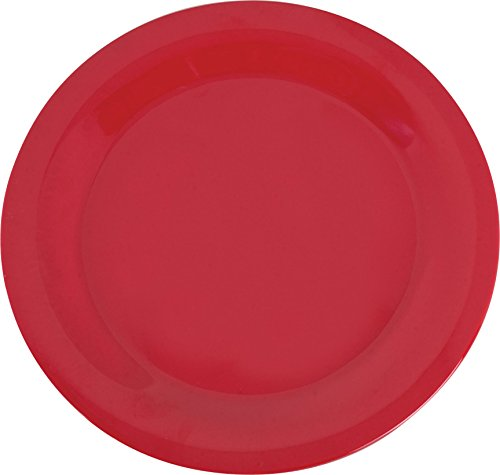 Carlisle 3300205 Sierrus Narrow Rim Melamine Dinner Plates, 10.5