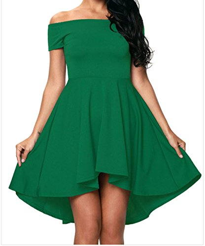 PEGGYNCO Womens Green All The Rage Skater Dress XL
