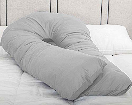 MS Extra Fill 9FT Comfort U Pillow Body /& Back Support Nursing Maternity Pregnancy Ultimate Support U Pillows White, 9FT U Pillow