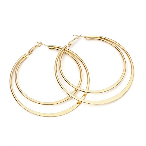 Hongxin European and American Trend Earring, 1 Pair Fashion Simple European and American Earrings Wild Ladies Fashion Jewelry,Earrings Jewelry Eardrop Gift (Gold)