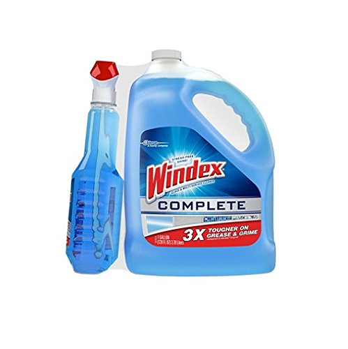 Windex Multisuface and Glass Cleaner Streak-free Shine 1 Gallon(128 Fl Oz) Refill + 32 Oz Trigger