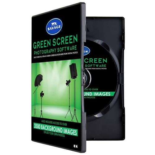 Savage Green Screen Software Kit, Includes 720 Digital Backgrounds, Video Tutorials & Green Screen Wizard Lite Software