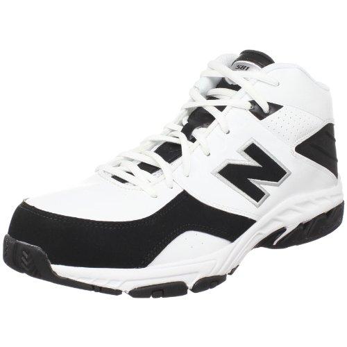New Balance Men's BB581 Basketball Shoe - White/Black - 7...
