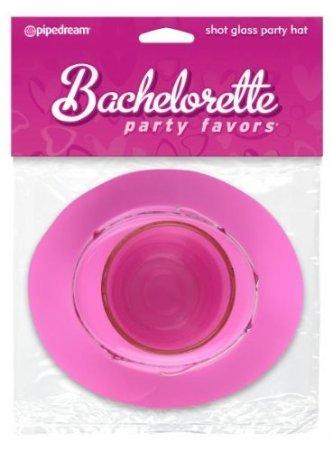 Holiday Gift Set Of Bachelorette Shot Glass Party Hat And a Mini-Mite Waterproof Massager -Purple