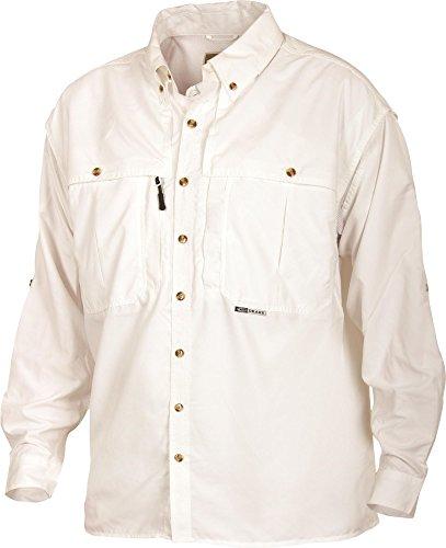 Drake Young Guns Wingshooter's Long Sleeve Shirt (White) (Youth - 10) - Mack 10 Gun