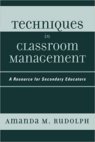Book Techniques in Classroom Management: A Resource for Secondary Educators