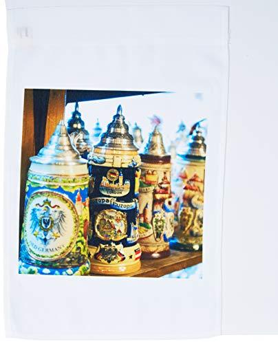 (3dRose fl_137125_1 Germany Baden-Wurttemberg, Rothenberg, Beer Stein-Eu10 Jen0308-Jim Engelbrecht Garden Flag, 12 by 18-Inch)