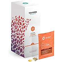 YouVeda - My Healthy Mood|Premium Ayurvedic & Herbal Supplements & Mobile App|Convenient all in one packet|30 Day Supply|Doctor Formulated|Stress, Adrenal & Concentration Support|Calming