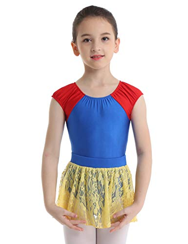 Agoky Kids Little Girls Princess Ballet Dance Tutu Dress Leotard Dancewear Costumes Snow White Dance Costume 5-6]()