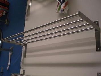 Ikea GRUNDTAL - Toalla Colgador/Estante de Pared, 4 Bares, 80 cm, Acero Inoxidable: Amazon.es: Hogar