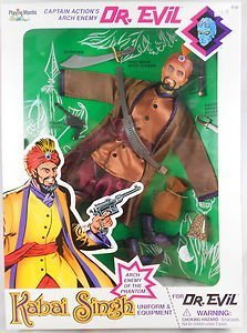 Playing Mantis Captain Action Phantom Arch Enemy Dr Evil Kabai Singh Figure Doll by Prannoi