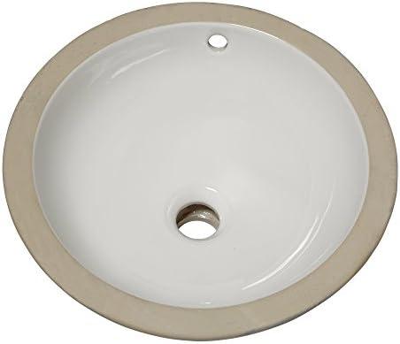 American Standard 0630.000.020 Orbit Undercounter Bathroom Sink, White