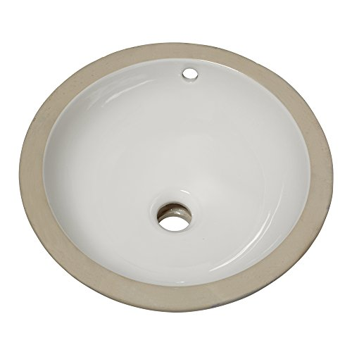 American Standard 630000.020 Orbit Ceramic undermount Round Bathroom sink, 15.5