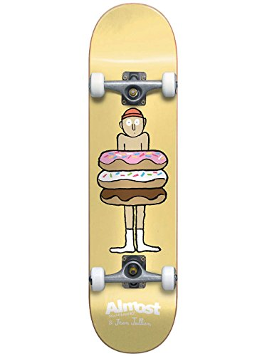 Almost 10523157Y Donuts Yellow Complete Skateboard, Yellow, Size 7.0MN