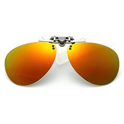 LOMOL Fashion Polarized Myopia Clip-on Flip up UV Protection Aviator Style - Are Ray Expensive Why Bans