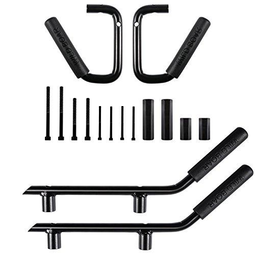 ndles Grip Handle Grab bar For Jeep Wrangler JK JKU Sports Sahara Freedom Rubicon X & Unlimited 2007-2018 (Matte Black) ()