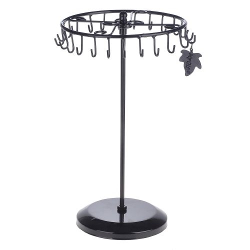 MyGift Black Rotating Necklace Holder Bracelet Stand/Jewelry Organizer/Jewelry Tree