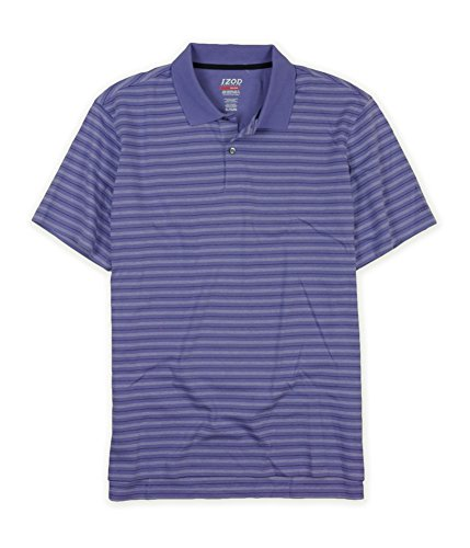 IZOD Mens Perform X Striped Rugby Polo Shirt 508 (508 Rugby)