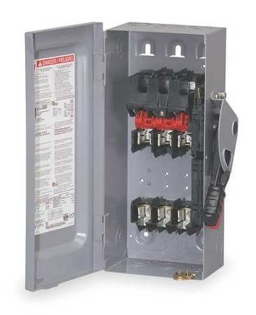 Square D Duty Safety Heavy Switch - HU361 SQUARE D 30 AMP, NON FUSED, 3 POLE, HEAVY DUTY, SAFETY DISCONNECT SWITCH, INDOOR, NEMA 1, 3P by SQUARE D