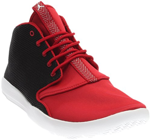 JORDAN KIDS JORDAN ECLIPSE CHUKKA BG BLACK WHITE GYM RED WHITE SIZE 7