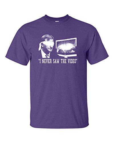 Jacted Up Tees Roger Goodell  I Never Saw The Video  Mens T Shirt   Med Purple  247